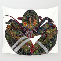 lobster Wall Tapestries featuring Lobster by Aina Serratosa