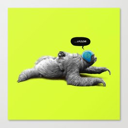 Speed Sloth Canvas Print