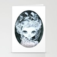marie antoinette Stationery Cards featuring Marie Antoinette by ZELYSS
