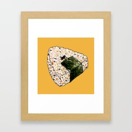 Onigiri Snooze Framed Art Print