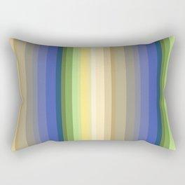 Multi-colored striped pattern . Rectangular Pillow