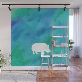 hippo cutout Wall Mural