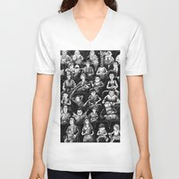 movies V-neck T-shirts featuring At The Movies by Doodles n' Things