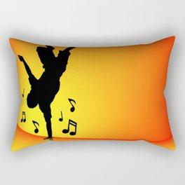 Breakdancer dancing orange Rectangular Pillow