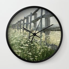 Rustic Fence Wall Clock