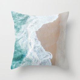 Ocean Mint Throw Pillow