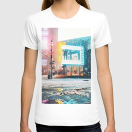 New York City Snow in Times Square T-shirt