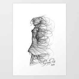 Gentle wind Art Print