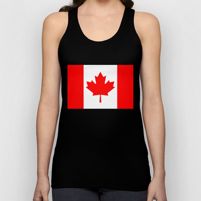 The National Flag of Canada, Authentic color and 3:5 scale version  Unisex Tank Top