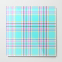 Large Royal Floridian Tartan Check Plaid Metal Print