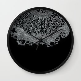 Single Digital Intricate 'Plant Cell' Pattern  Wall Clock