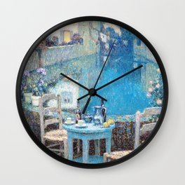 Henri Le Sidaner - Small Table in Evening Dusk (new color editing) Wall Clock