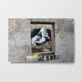 Voyeuristic Graffiti. Metal Print