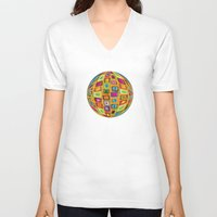 mosaic V-neck T-shirts featuring Mosaic by gretzky