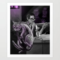 kevin russ Art Prints featuring Kevin?! by Justyna Rerak