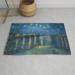 Van Gogh, Starry Night Over The Rhone Artwork Reproduction, Posters, Tshirts, Prints, Bags, Men, Wom Rug