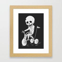 Death Kid Bone Ride Framed Art Print