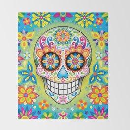 Sugar Skull Art (Jubilee) Throw Blanket