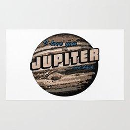 I love you to Jupiter and back. retro Rug
