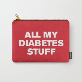 All My Diabetes Stuff™ (Grenadine) Carry-All Pouch
