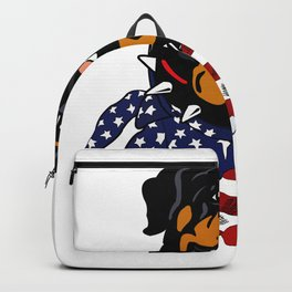 Rottweiler USA Flag Bandana Graphic Gift For Dog Owners Backpack