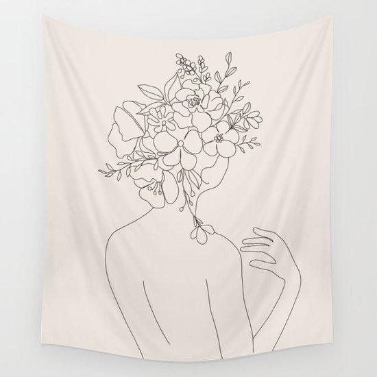 Woman with Flowers Minimal Line II by nadja1