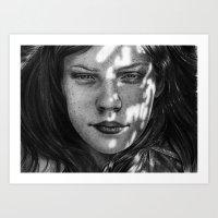 monika strigel Art Prints featuring Sunshine - Monika Jasnauskaite by Junkie Juice