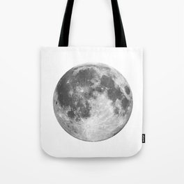 Full Moon phase print black-white monochrome new lunar eclipse poster home bedroom wall decor Tote Bag