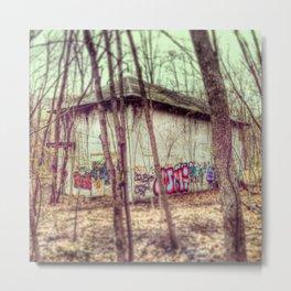 graffiti in the woods Metal Print