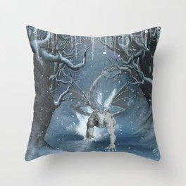 Wonderful ice dragon Throw Pillow