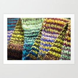Stitch By Stitch Art Print