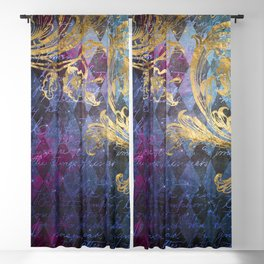 Midnight Harlequin Blackout Curtain