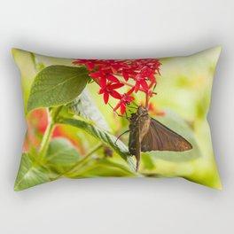 Blue Butterfly Photography Print Rectangular Pillow