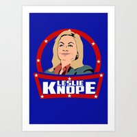 leslie knope Art Prints featuring Leslie Knope by SuperEdu