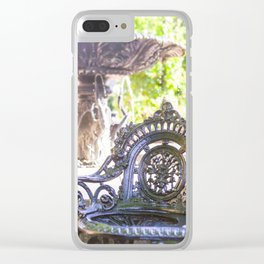 Garden Relaxing Time Clear iPhone Case