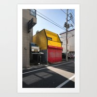 Garage House Art Print