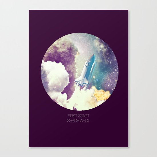 up to Space!  Canvas Print