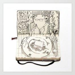 The Last Supper (Frog) Art Print