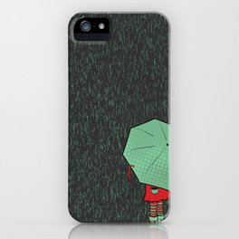 rain falls iPhone Case