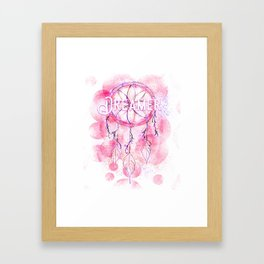 Pink and purple dreamer dream catcher Framed Art Print