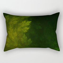 Beautiful Fractal Pines in the Misty Spring Night Rectangular Pillow
