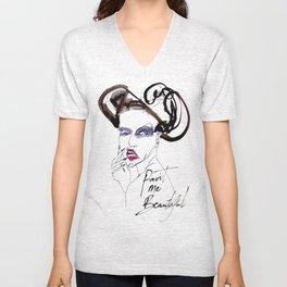 Paint Me Beautiful Unisex V-Neck