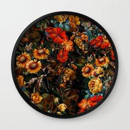Midnight Garden VII Wall Clock