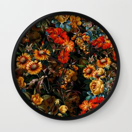 Midnight Garden VII Wall Clock