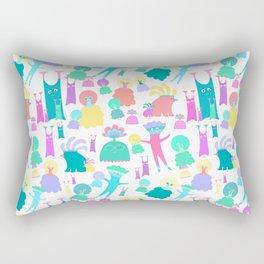 Aliens party Rectangular Pillow