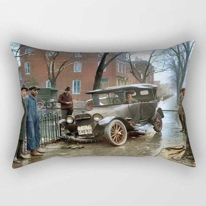 Rainy Day, Washington, D.C. Rectangular Pillow