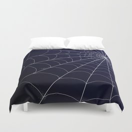 Spiderweb on Midnight Duvet Cover