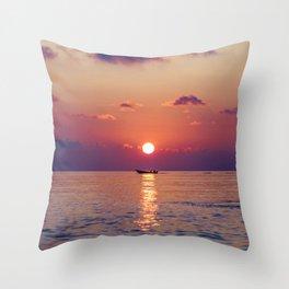 Calm Sunset (Color) Throw Pillow