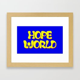 HOPEWORLD Framed Art Print