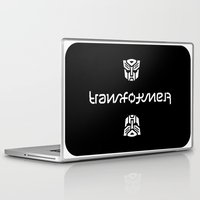 transformer Laptop & iPad Skins featuring TRANSFORMER ambigram by Reverse